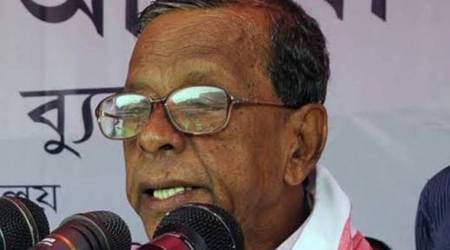 Bhumidhar Barman, government of Assam, Bhumidhar Barman death, Bhumidhar Barman death reason, Bhumidhar Barman passes away, Bhumidhar Barman news, assam news, north east news, indian express