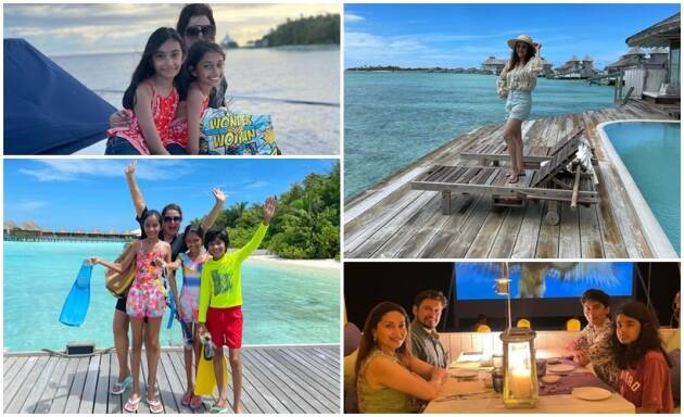 Farah Khan Kunder and Madhuri Dixit enjoy respective family time in Maldives