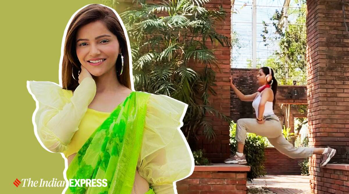 rubina dilaik fitness, rubina dilaik news, indianexpress.com, lockdown fitness, rubina dilaik lockdown fitness, bodyweight exercises, indianexpress.com, indianexpress,