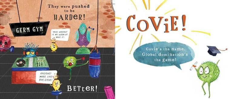 children's book, children's book on the pandemic, explaining the pandemic to kids, Germ Academy, book Germ Academy, what is Germ Academy, children's book that talks about the coronavirus infection, parenting, indian express news