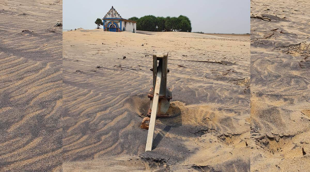Hand pump buried in sand, temple without deity: Seven villages start vanishing from Odisha map