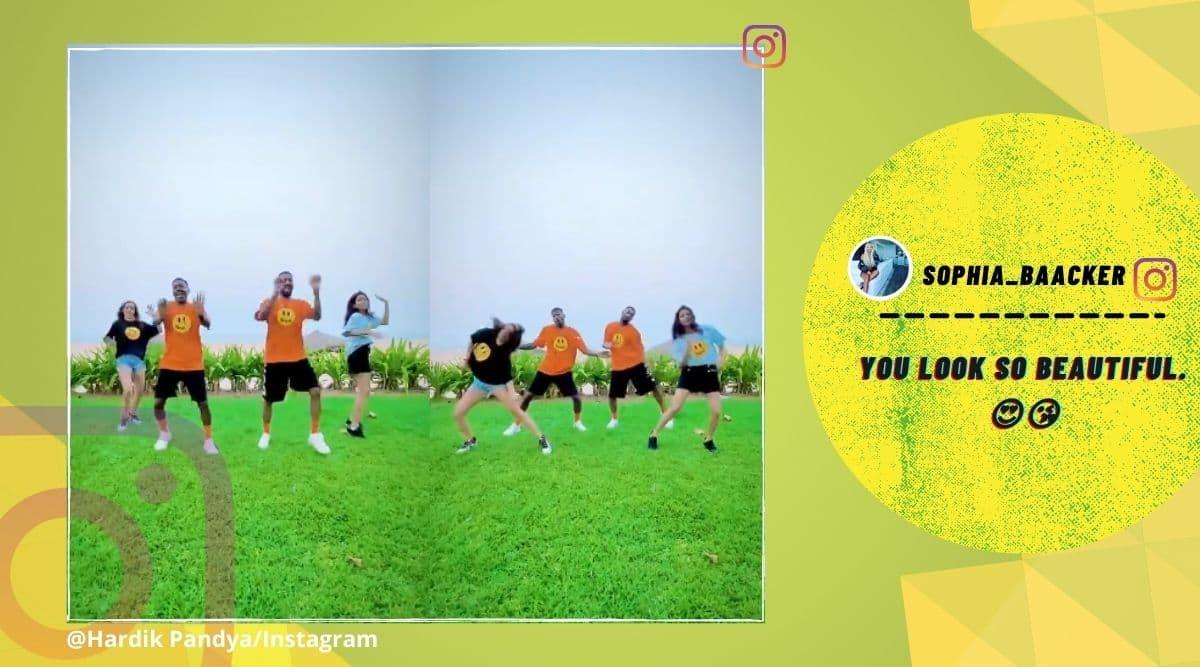 Hardik Pandya, family, dance video, Hardik Pandya ay rico rico dance with family, Hardik Pandya instagram, Hardik Pandya dance video, Ay Rico Rico, Instagram, Viral video, Indian Express news