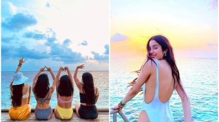 Janhvi Kapoor Maldives swimsuit