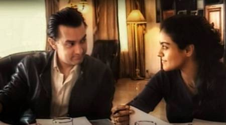 Kajol with Aamir Khan