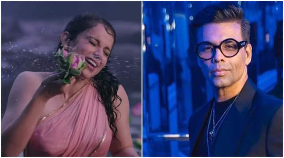 Kangana Ranaut shares an edited video of Karan Johar dancing on 'Chali Chali': 'Best video so far' - The Indian Express