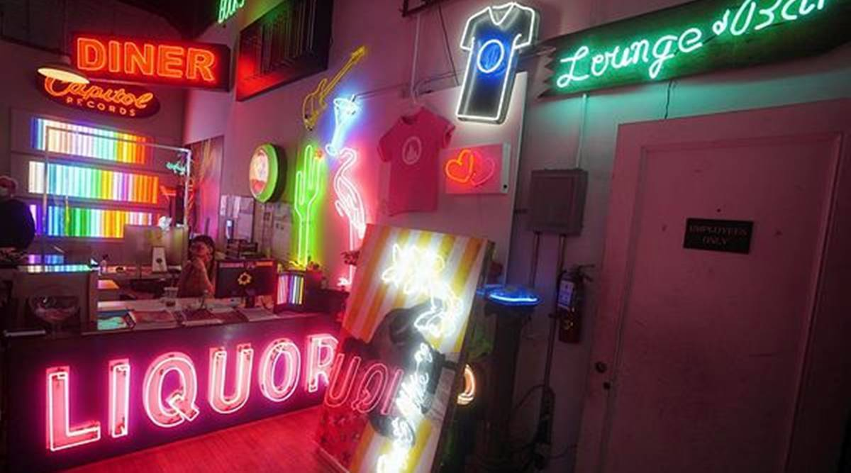 New York store, neon signs, neon lights, Let There Be Neon, indian express news