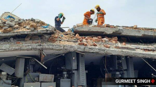 Ludhiana, Ludhiana building collapse, Ludhiana news, Indian Express