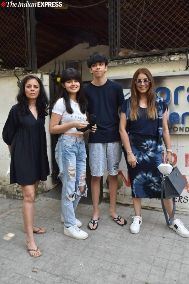 Mahima Chaudhary with kids snapped at clinic in juhu