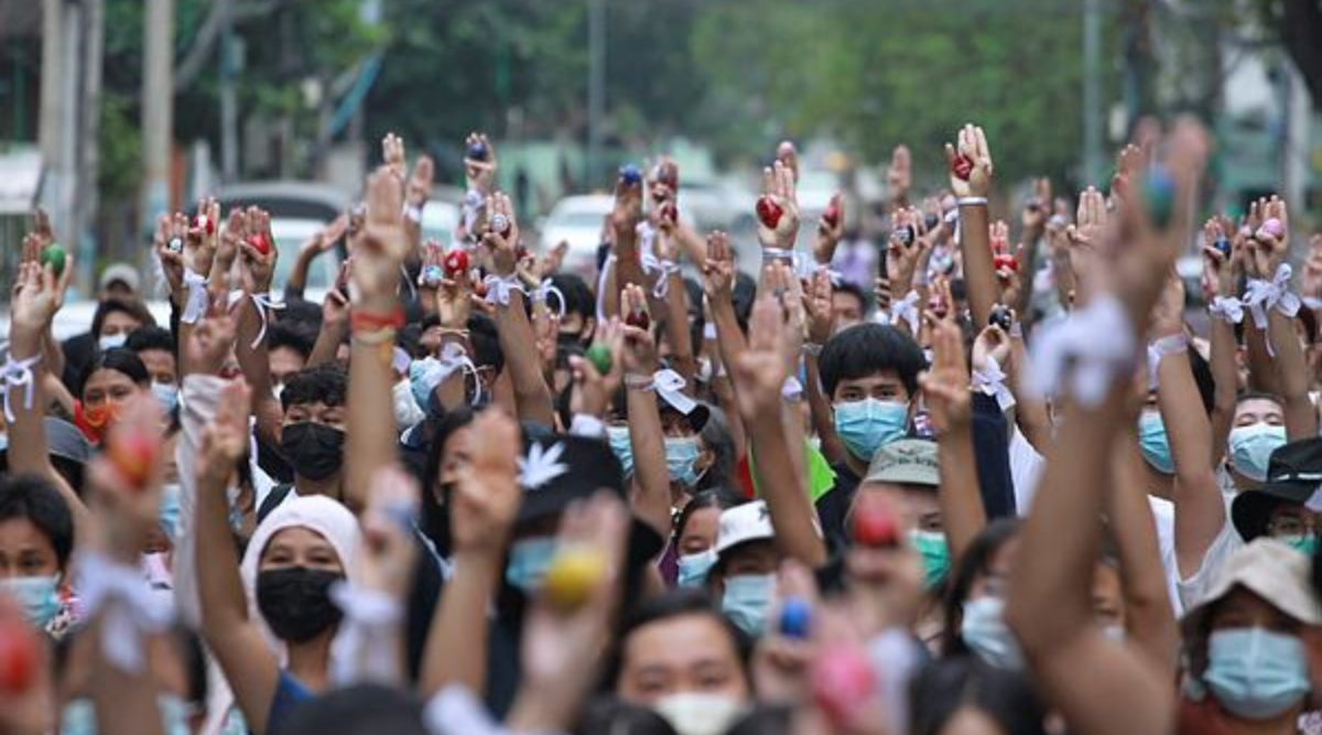 Myanmar anti-coup protesters launch 'Easter egg strike'