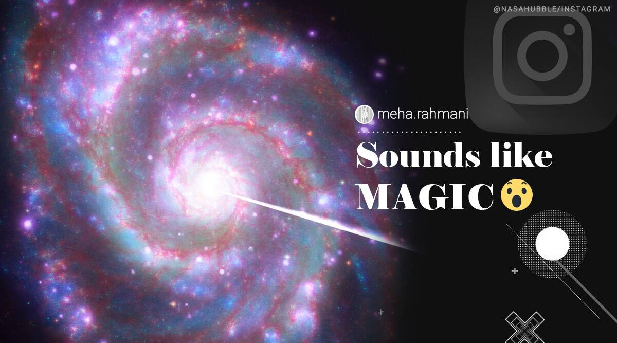 NASA, NASA data sonification video, NASA data sonification projects, NASA whirlpool galaxy, whirlpool galaxy sonification video, Galaxy sonification videos, NASA Instagram, NASA Hubble, Trending news, Indian Express news.
