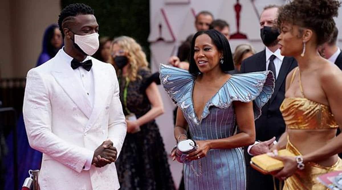 Oscars, Oscars 2021, Oscars award ceremony, Oscars and social distancing, masks-free Oscars, Oscars news, indian express news