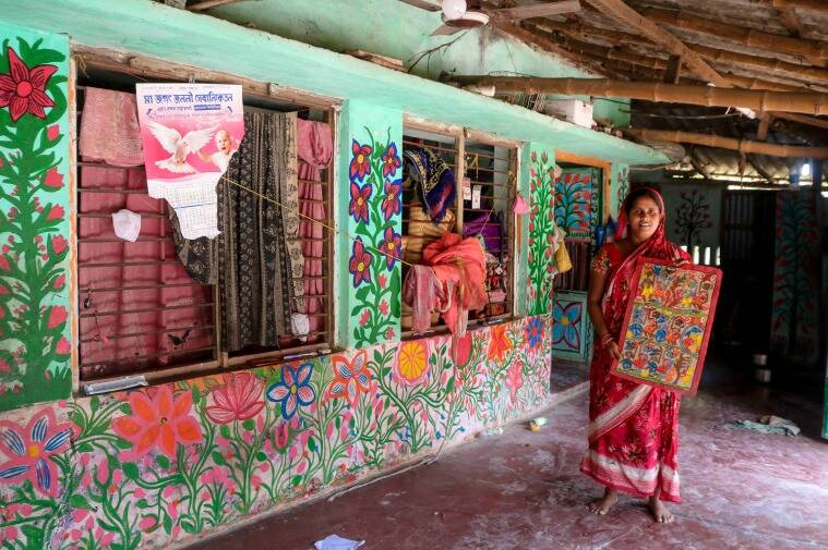 West Bengal elections, voting in West Bengal, voting in Midnapore, voting in West Midnapore, West Bengal election date, west bengal election 2021, Patua, patachitra artists in Bengal, West Bengal news, Indian Express