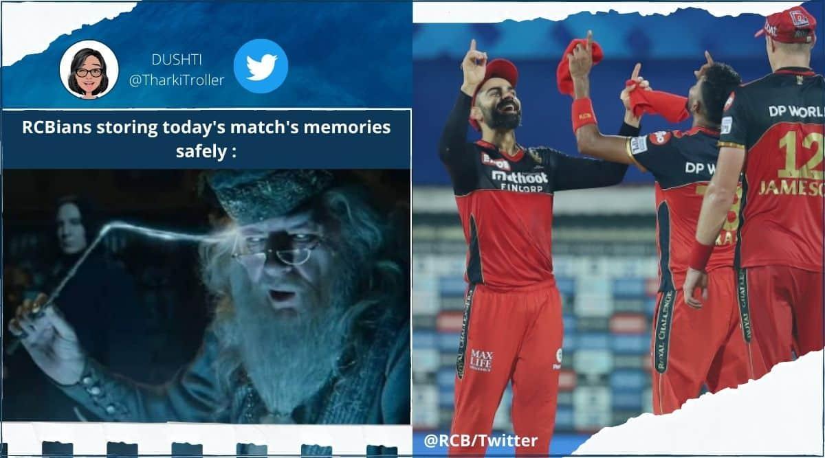 IPL, IPL 2021, IPL 2021 match, IPL 2021 memes, IPL 2021 Twitter reactions, IPL 2021 match updates, RCB vs RR, RCB vs RR match memes, RCB vs RR match summary, RCB vs RR match reactions Twitter, RCB vs RR score, RCB vs RR live updates, Trending news, Sports news, cricket news, Indian Express.
