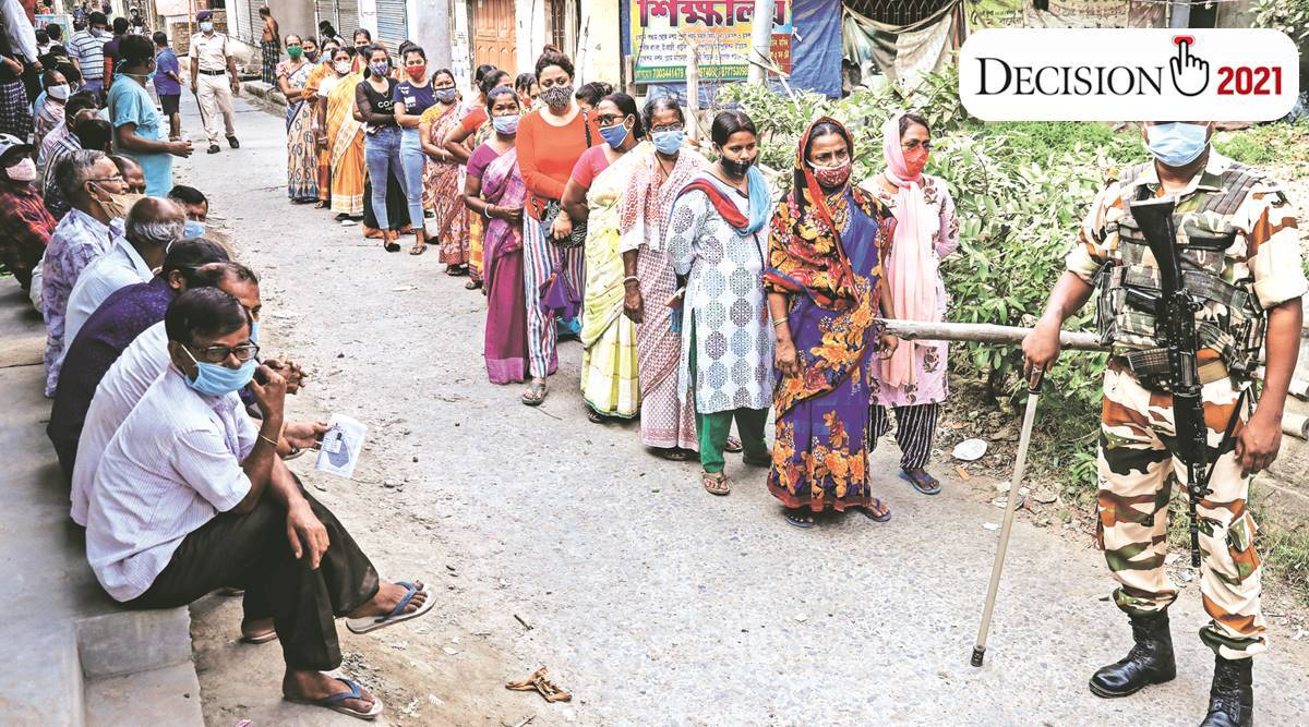 election, West Bengal Assembly Elections 2021, west bengal fifth phase of voting, west bengal voting percentage, west bengal news, indian express