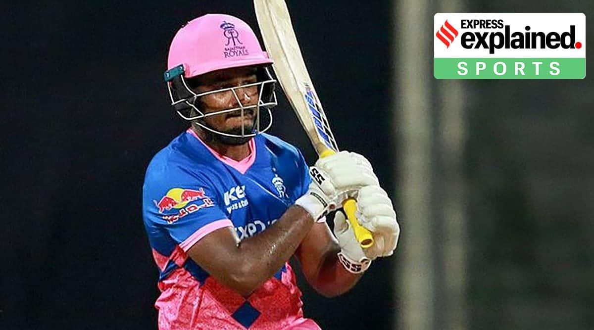 Sanju Samson, Sanju Samson batting, Sanju Samson century, Sanju Samson Rajasthan Royals, Rajasthan Royals, Indian Express