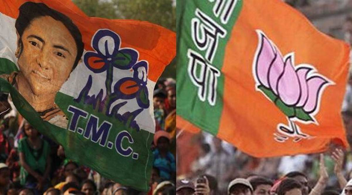 BJP & TMC workers clash in Kolkata