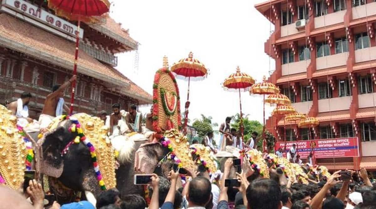 thrissur pooram, thrissur pooram celebration, thrissur pooram coronavirus, Kerala thrissur pooram, Indian express