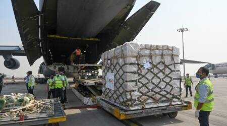 US, India, Relief supplies
