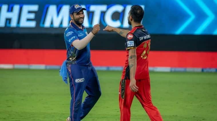 Virat and rohit, MI vs RCB, IPL 2021
