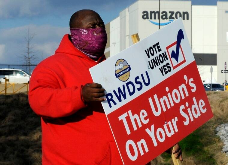 Amazon, Amazon workers union, Amazon union vote, Amazon unionization, Bessemer, Indian Express