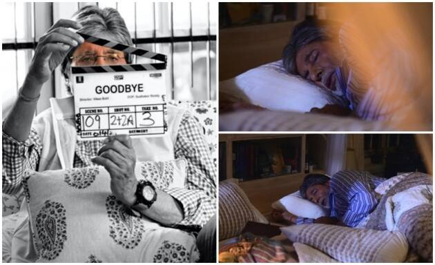 amitabh sleeping photo on Goodbye sets