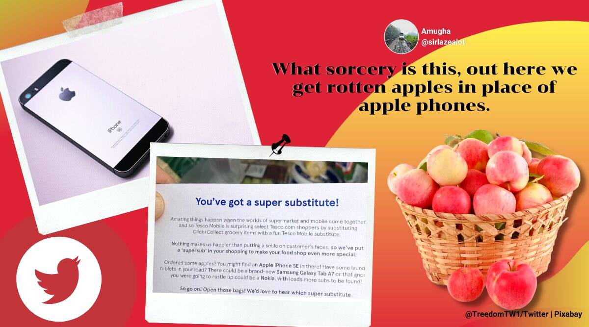 man orders apple gets iphone, tesco surprise customer with iphone, tesco mobile super substitute, odd news, viral news, indian express