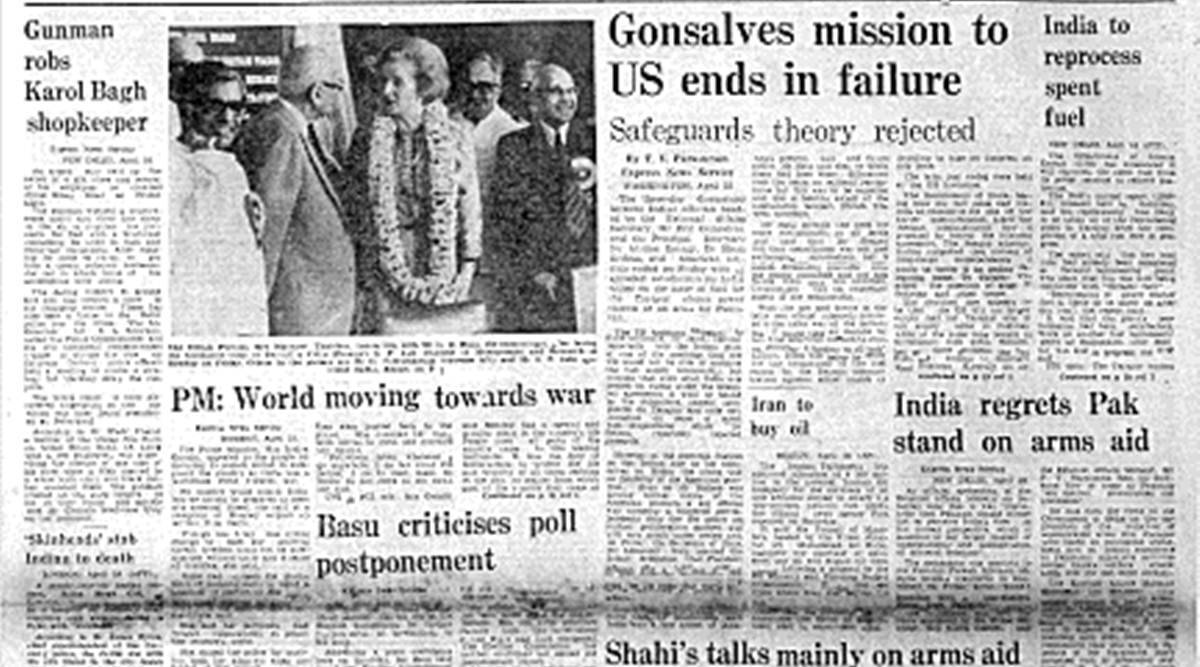 Indo-US Talks Fail, Eric Gonsalves, Principal Secretary Atomic Energy, Homi Sethna, Delhi Electric Supply Corporation, Indian Student Killed, indian express, forty years ago
