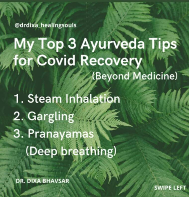 covid recovery tips, ayurveda