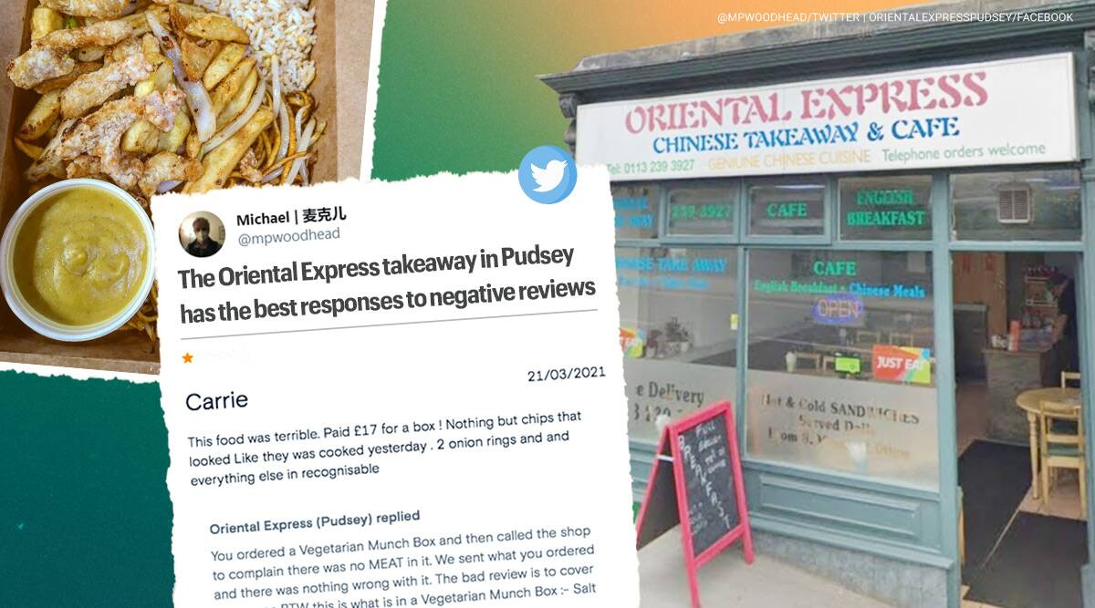 Chinese takeaway bad reviews responses, restaurant bad review epic response, oriental express leeds, viral news, indian express, food news