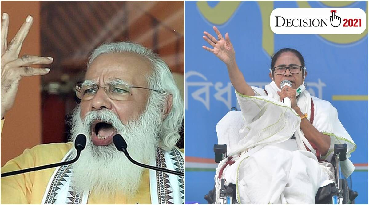 Game over for TMC, says PM Modi; BJP wants to divide Bengal, hits back Mamata - The Indian Express