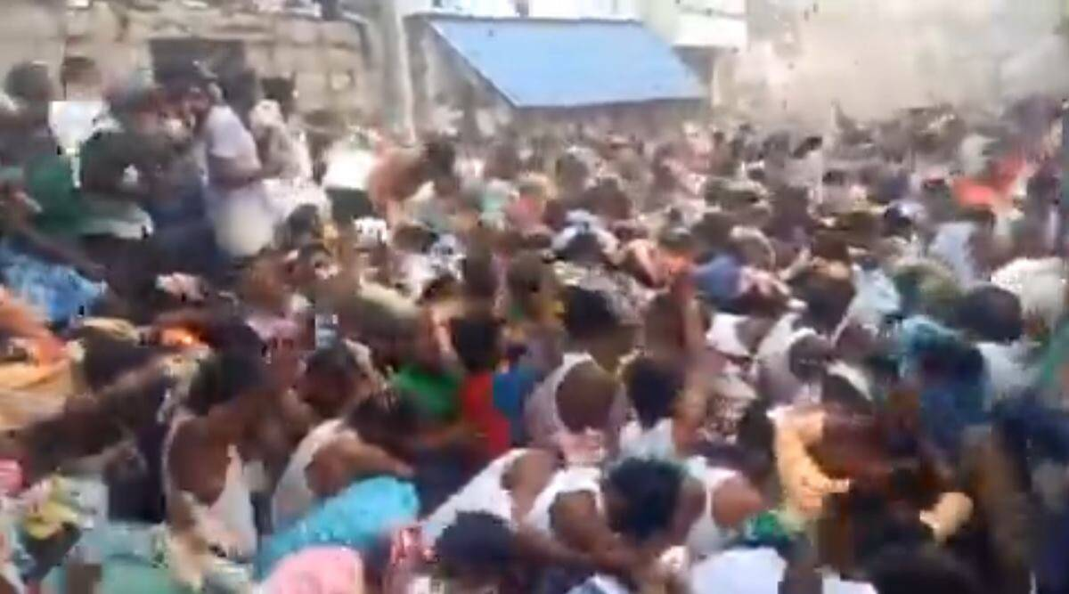 covid, covid-19 cases, Andhra Pradesh covid cases, Andhra Pradesh cow dung viral video, Kurnool cow dung festival viral video, trending, indian express, indian express news