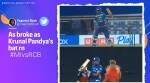 krunal pandya, krunal pandya bat, ipl 2021, mumbai indians vs royal challengers bangalore, mumbai vs bangalore, ipl news, ipl videos, twitter reactions, memes, trending, indian express, indian express news