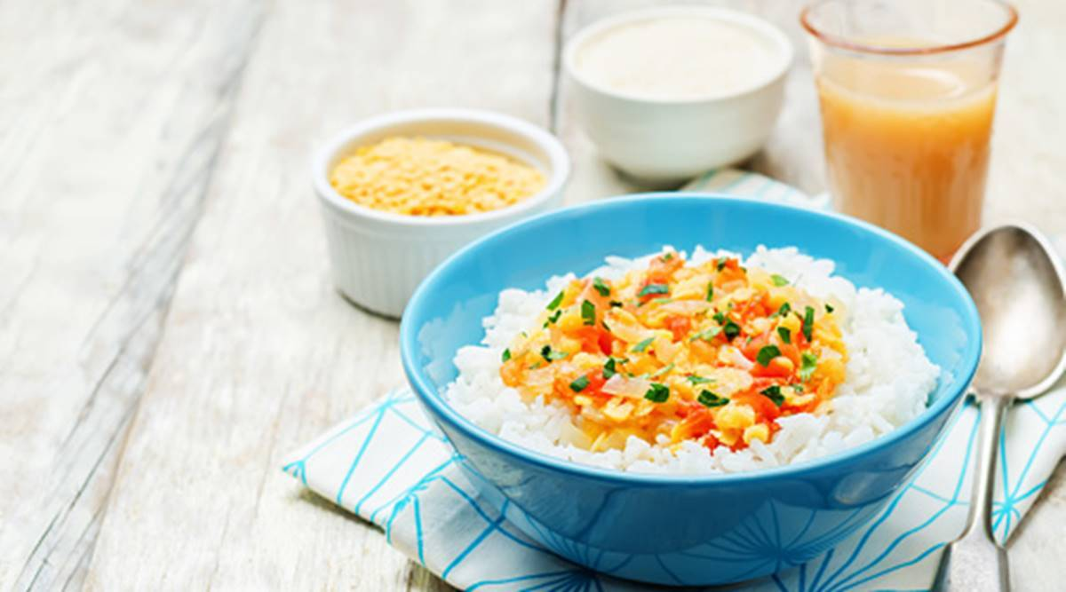 dal rice, healthy meal