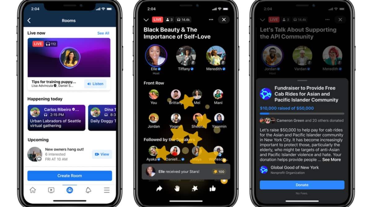 facebook, facebook live audio rooms, facebook clubhouse clone, facebook new audio features, facebook soundbites