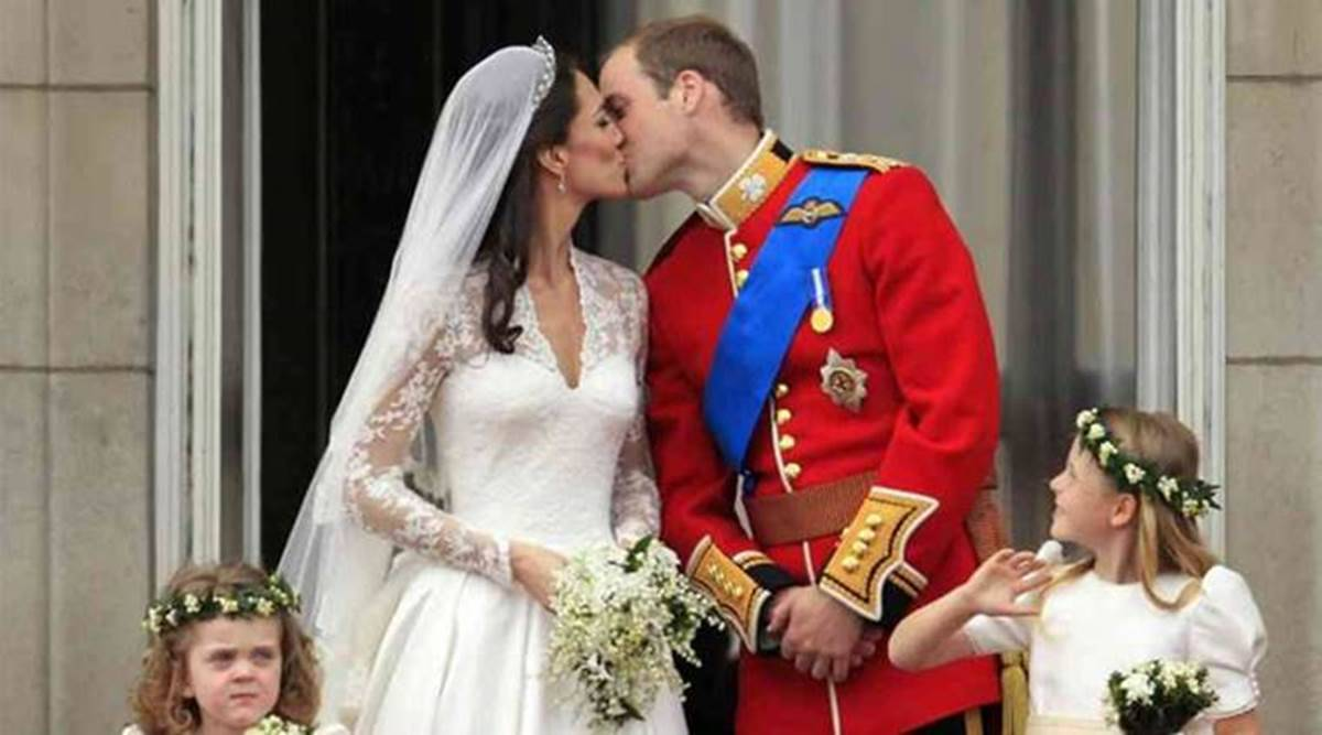 Prince William and Kate Middleton wedding, Prince William and Kate Middleton wedding cake, royal family, royal wedding, Queen Elizabeth II, indian express news
