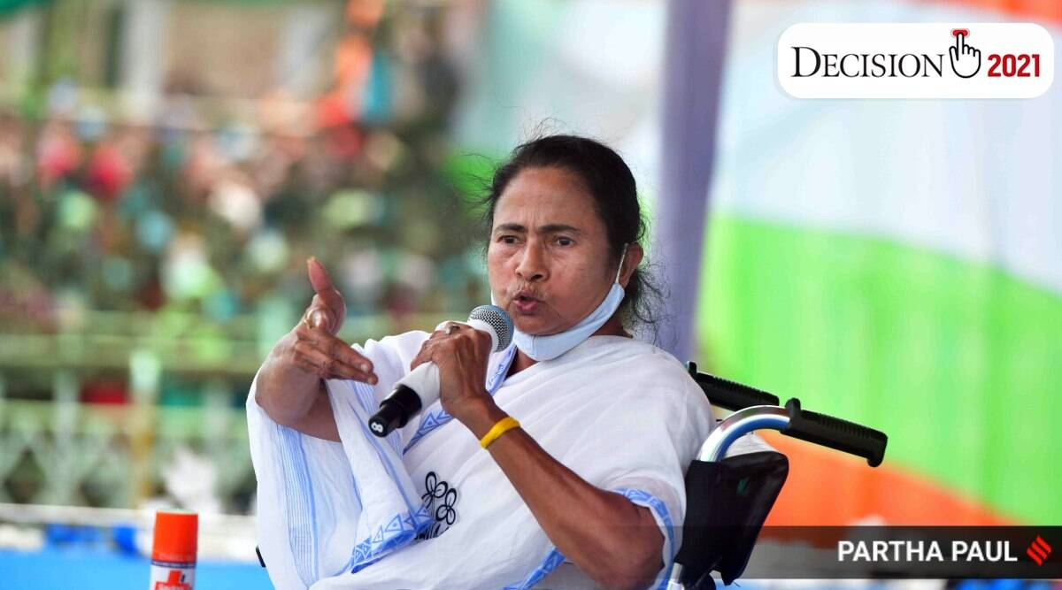 Mamata Banerjee, ec ban on mamata, mamata campaign barred, west bengal assembly elections, tmc, bjp, sitalkuchi, indian express