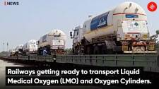 Railways getting ready to transport Liquid Medical Oxygen (LMO) and Oxygen Cylinders
