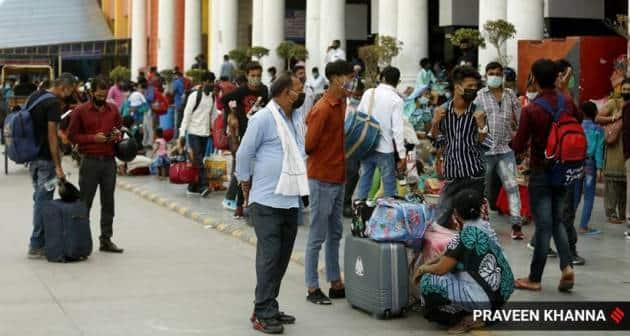 migrant workers, migrants lockdown, covid lockdown, delhi curfew, delhi lockdown, migrant workers, indian express news