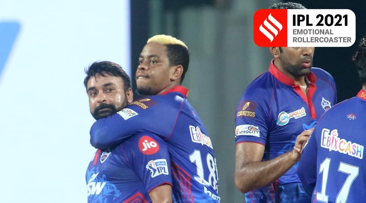 Delhi Capitals vs Mumbai Indians, DC vs MI IPL 2021, Hardik Pandya, Rohit Sharma, Amit Mishra four wickets, Kagiso Rabada