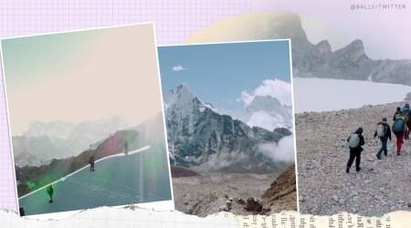 nepal, nepal climbers, nepal climbers clean 2.2 ton waste, mount Everest, Himalayan peaks, twitter reactions, viral video, trending, indian express, indian express news