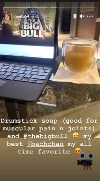 drumstick soup, neetu kapoor