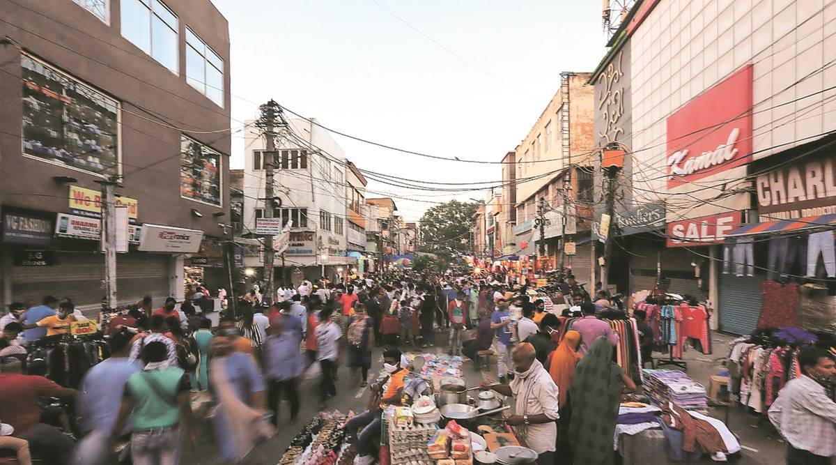 Delhi government, curfew, covid-19 cases in delhi, delhi market, delhi news, indian express