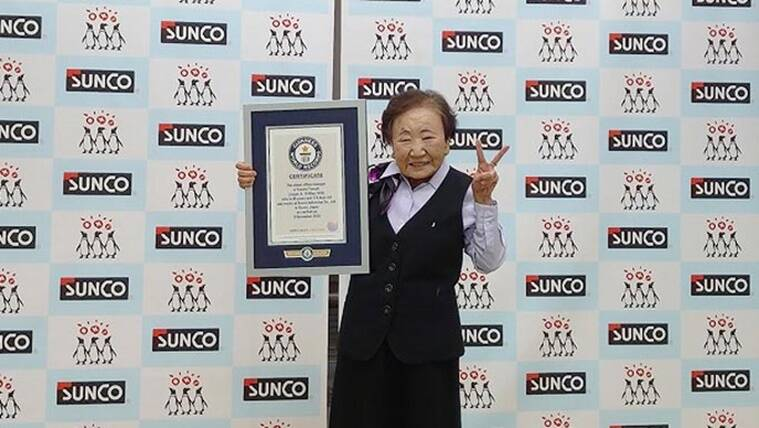woman japan, guinness book of world records, GWR, japan records, oldest officer manager, japan news, guinness news, indianexpress.com, indianexpress,
