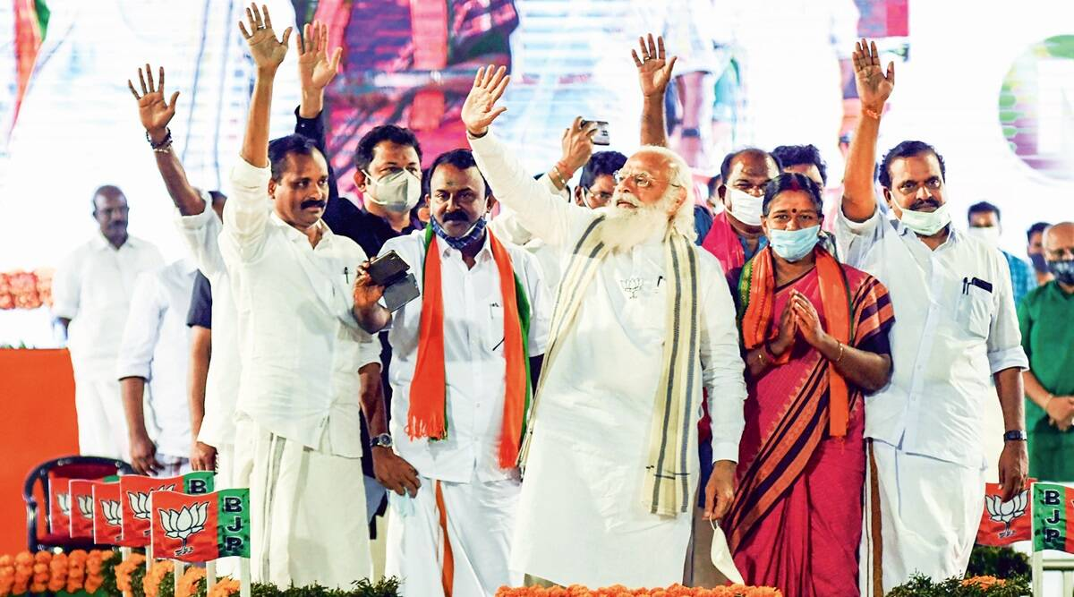 In Kerala, Modi raises Sabarimala chant, says LDF 'destabilising sacred places'