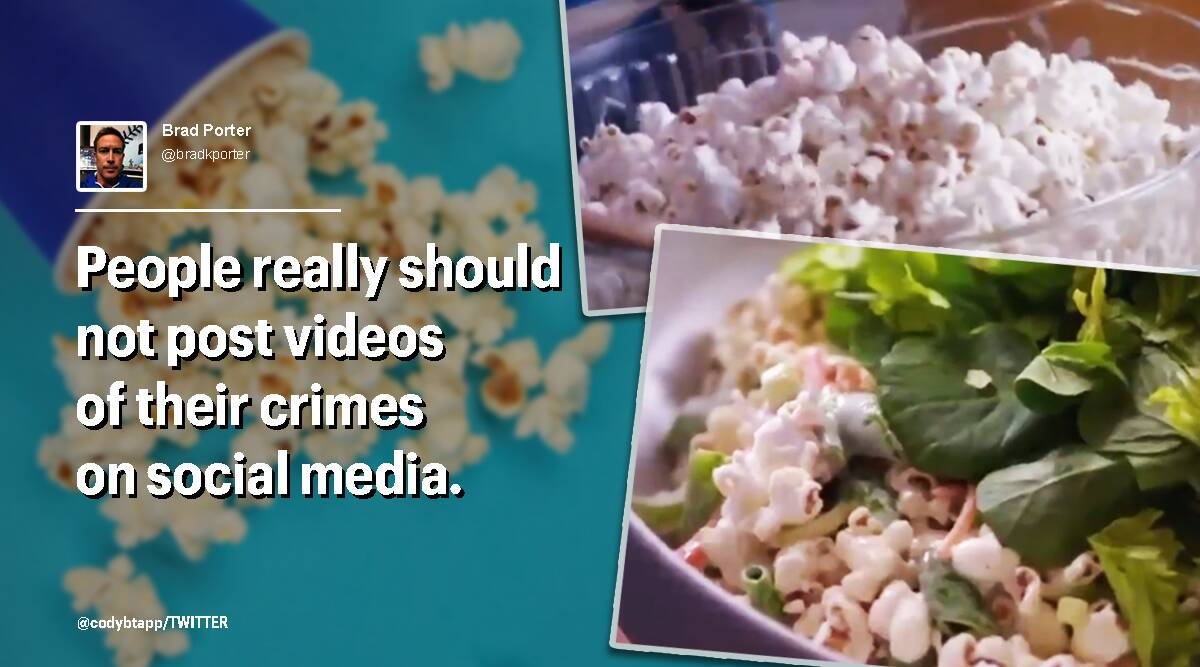 popcorn, popcorn salad, popcorn salad reactions, bizarre food, bizarre food recipes, twitter reactions, trending news, indian express, indian express news