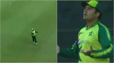 sharjeel khan, sharjeel khan funny drop catch, sharjeel khan funny fielding, pakistan players funny catch drop, pakistan fielders funny fielding, Pakistan vs South Africa 2nd T20I, PAK vs SA 2nd T20I