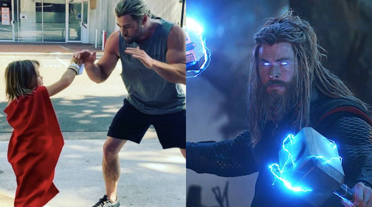 Chris Hemsworth fights mini Thor on Love and Thunder sets, calls him 'the next heavy weight champion of the universe'. Watch