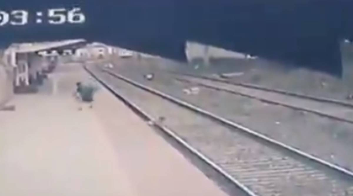 Watch: Railway pointsman puts his life on line to save kid; daring rescue caught on camera