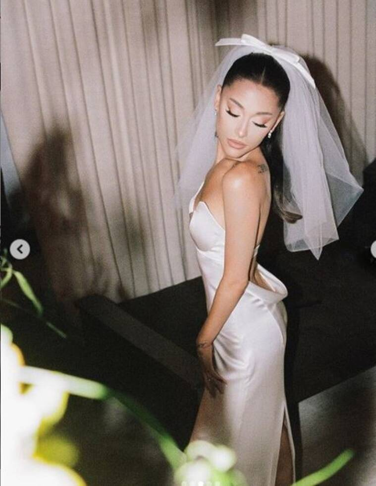 1 11 Ariana Grande looked ethereal on wedding day in a custom-made Vera Wang gown