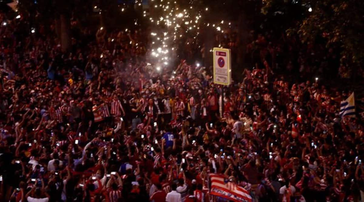 atletico madrid, atletico madrid fan death, atletico madrid title win, atletico madrid title win celebration